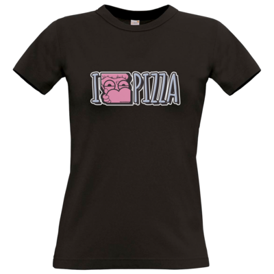 Motiv: T-Shirt Damen Premium FAIR WEAR - I <3 PIZZA
