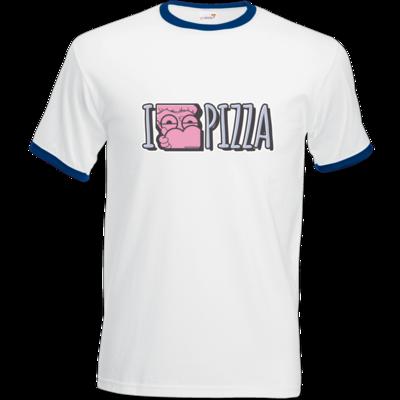 Motiv: T-Shirt Ringer - I <3 PIZZA