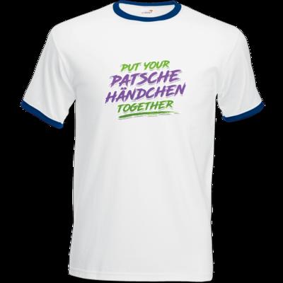 Motiv: T-Shirt Ringer - Patschehändchen