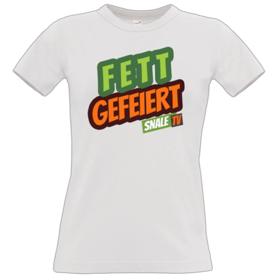 Motiv: T-Shirt Damen Premium FAIR WEAR - Fett Gefeiert