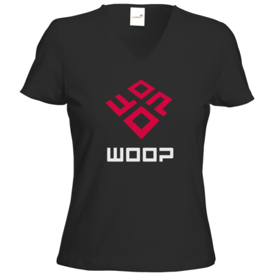 Motiv: T-Shirts Damen V-Neck FAIR WEAR - Woop Logo