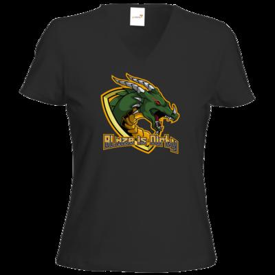 Motiv: T-Shirts Damen V-Neck FAIR WEAR - BlazeTransparent