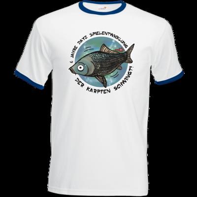 Motiv: T-Shirt Ringer - Der Karpfen schwingt!