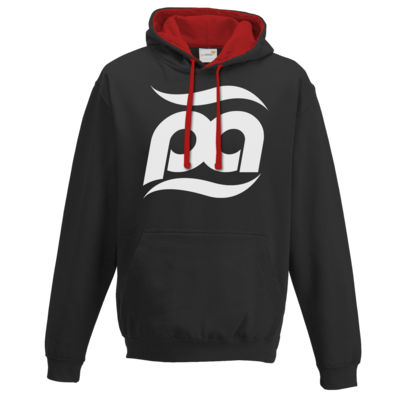 Motiv: Two-Tone Hoodie - Logo kurz
