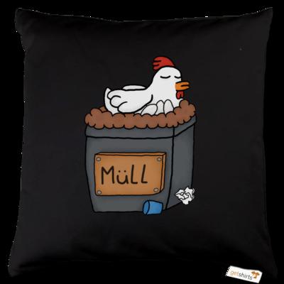 Motiv: Kissen Baumwolle - Müllhuhn