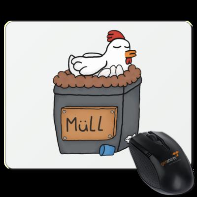 Motiv: Mousepad Textil - Müllhuhn