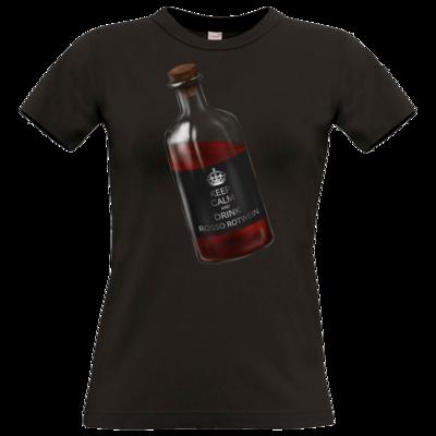 Motiv: T-Shirt Damen Premium FAIR WEAR - Rosso Rotwein