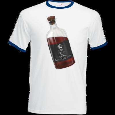 Motiv: T-Shirt Ringer - Rosso Rotwein