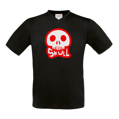 Motiv: T-Shirt V-Neck FAIR WEAR - Toms Shirt - Skull