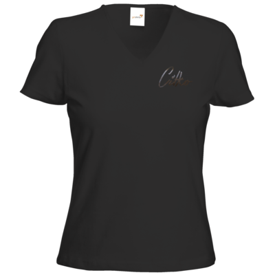 Motiv: T-Shirts Damen V-Neck FAIR WEAR - Citko Moon