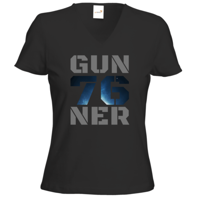 Motiv: T-Shirts Damen V-Neck FAIR WEAR - Gun76ner Block