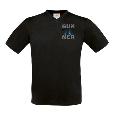 Motiv: T-Shirt V-Neck FAIR WEAR - Gun76ner Block