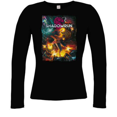 Motiv: Longsleeve Damen Organic - Shadowrun Cover