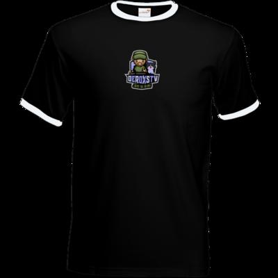 Motiv: T-Shirt Ringer - DeroxsTV Logo