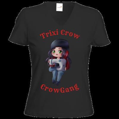 Motiv: T-Shirt Damen V-Neck Classic - Trixi ( Nähmaschine )