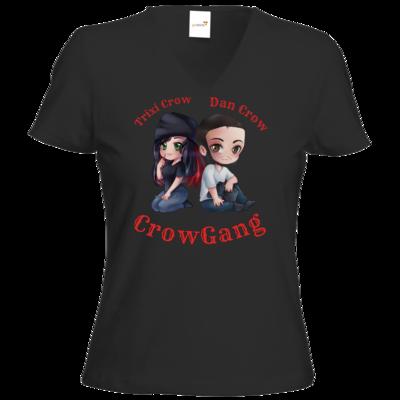Motiv: T-Shirt Damen V-Neck Classic - Trixi und Dan