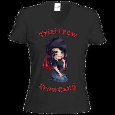 Motiv: T-Shirt Damen V-Neck Classic - Trixi  ( Häkelnadel )