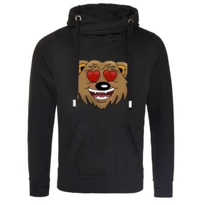 Motiv: Cross Neck Hoodie - Love