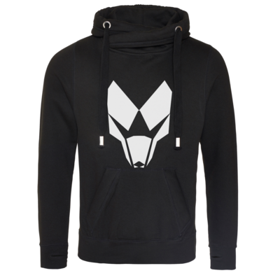 Motiv: Cross Neck Hoodie - BuildMySystem Logo