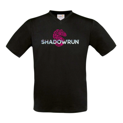 Motiv: T-Shirt V-Neck FAIR WEAR - Shadowrun (r) Logo