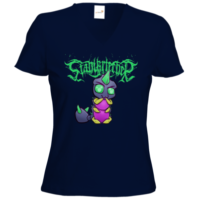 Motiv: T-Shirts Damen V-Neck FAIR WEAR - Cute Stahlkriecher