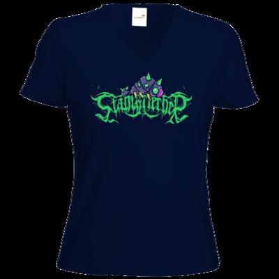 Motiv: T-Shirts Damen V-Neck FAIR WEAR - Retro Stahlkriecher