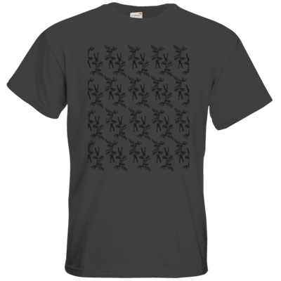 Motiv: T-Shirt Premium FAIR WEAR - Elch - Pattern (black)