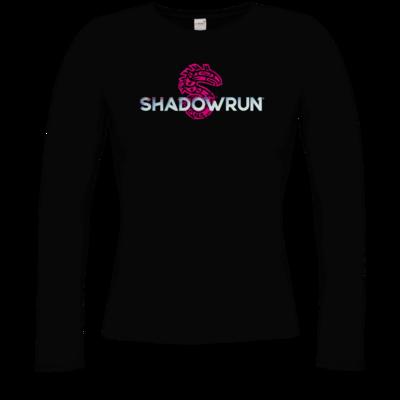 Motiv: Longsleeve Damen Organic - Shadowrun Logo