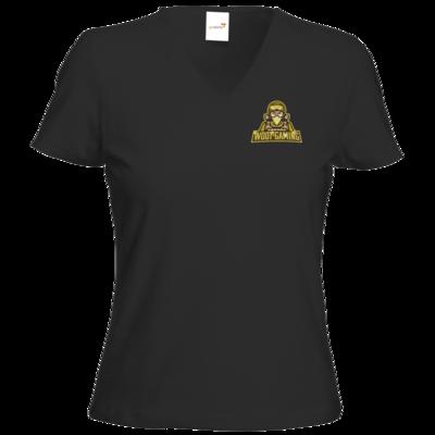 Motiv: T-Shirts Damen V-Neck FAIR WEAR - goldies