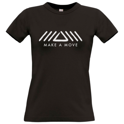 Motiv: T-Shirt Damen Premium FAIR WEAR - Make A Move - Logo (big)