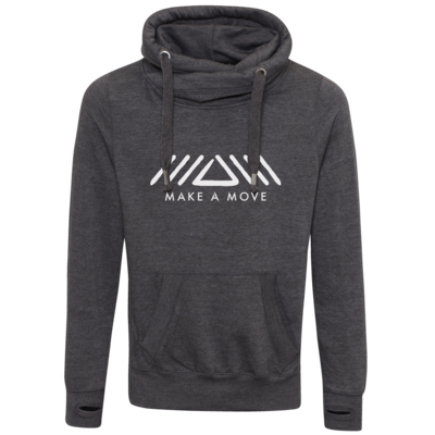 Motiv: Cross Neck Hoodie - Make A Move - Logo (big)