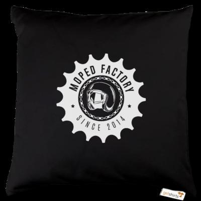 Motiv: Kissen Baumwolle - Logo Moped Factory