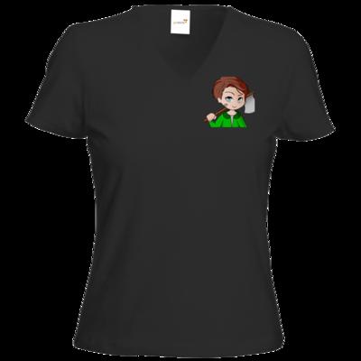 Motiv: T-Shirts Damen V-Neck FAIR WEAR - Timberianer - by Wariona