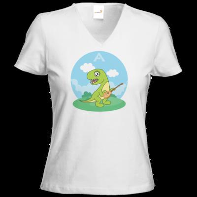 Motiv: T-Shirt Damen V-Neck Classic - voplogo