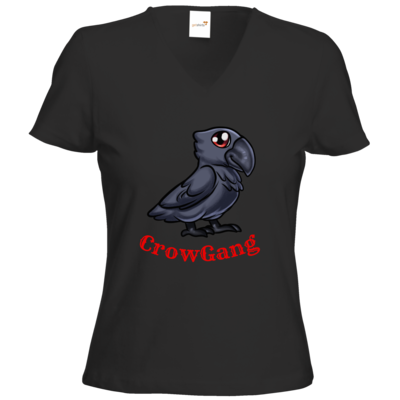 Motiv: T-Shirt Damen V-Neck Classic - CrowRabe