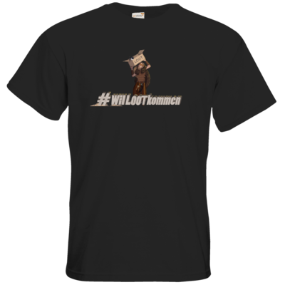 Motiv: T-Shirt Premium FAIR WEAR - #WilLOOTkommen