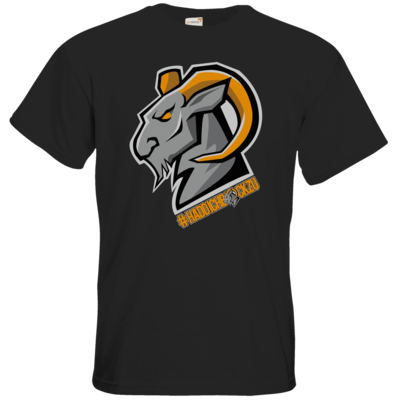Motiv: T-Shirt Premium FAIR WEAR - #Haddichbockzu Big Goat