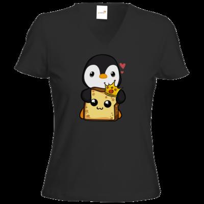 Motiv: T-Shirts Damen V-Neck FAIR WEAR - PinguToast