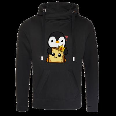 Motiv: Cross Neck Hoodie - PinguToast