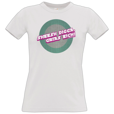 Motiv: T-Shirt Damen Premium FAIR WEAR - Sheesh Digga, Grias eich!