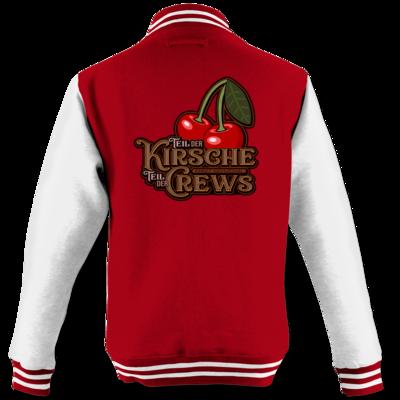 Motiv: College Jacke - Kirsche und Crews