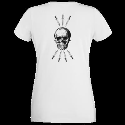 Motiv: T-Shirt Damen Premium FAIR WEAR - Die sieben Tode (beidseitig)