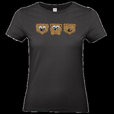 Motiv: T-Shirt Damen Premium FAIR WEAR - nichts sehen, nichts hören, nichts sagen