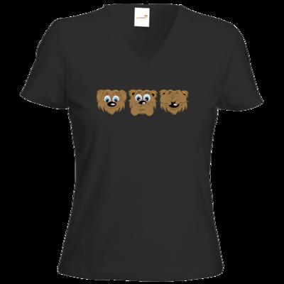 Motiv: T-Shirt Damen V-Neck Classic - nichts sehen, nichts hören, nichts sagen