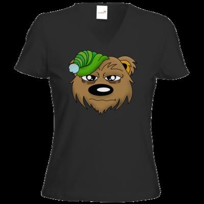 Motiv: T-Shirt Damen V-Neck Classic - Schlafbaer