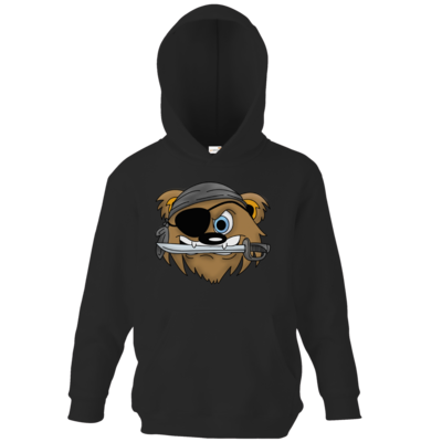 Motiv: Kids Hooded Sweat - Piratenbaer