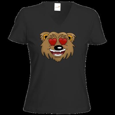 Motiv: T-Shirt Damen V-Neck Classic - Love