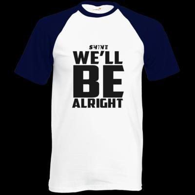 Motiv: Baseball-T FAIR WEAR - We'll be alright