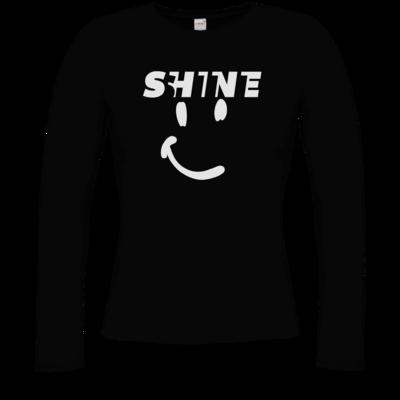 Motiv: Longsleeve Damen Organic - Shine smile