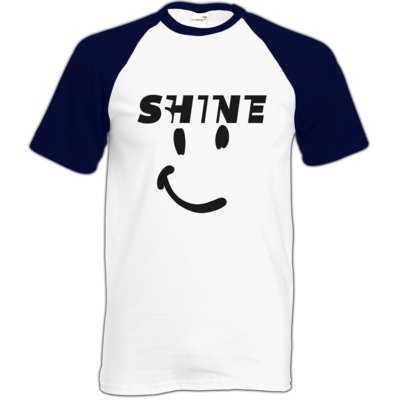 Motiv: Baseball-T FAIR WEAR - Shine smile